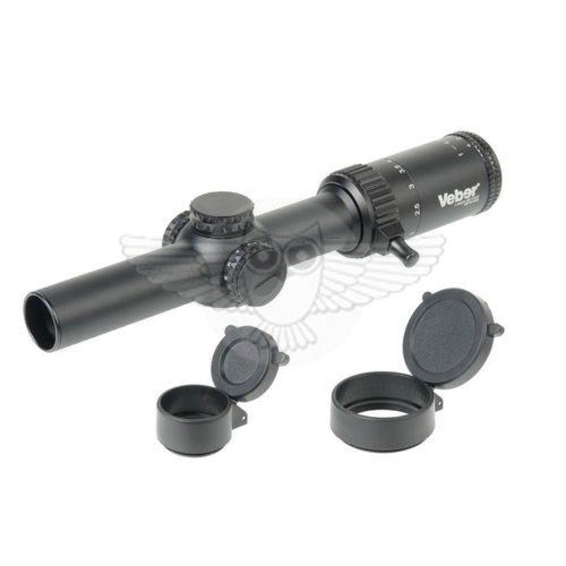 Оптический прицел Veber Wolf 1-4х24 GB FD07 Загонник